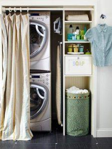 hallway laundry rooms