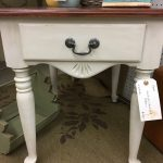 Two tone end table makeover
